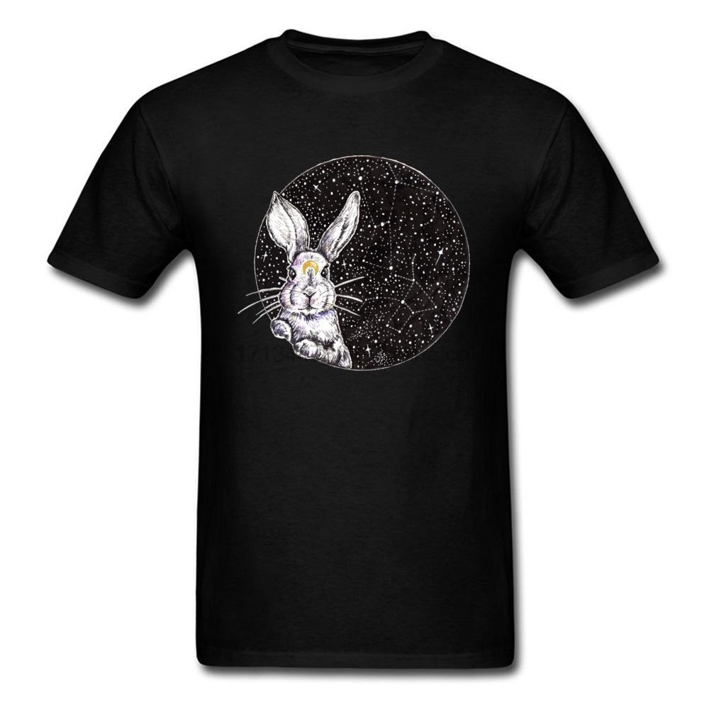 Conejo Overlord Camisetas Galaxy hombre blanco de la camiseta de los hombres frescos Xxxl Imagen Tee Shirts for Student Crear diseño de la camiseta