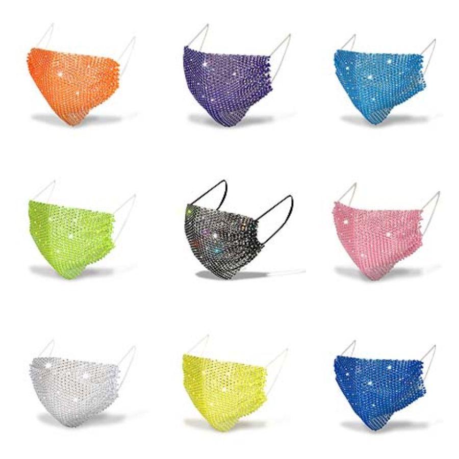 Kreative Mode waschbar wiederverwendbare Gesichtsmaske im Freien Sonnenschutz-Gesichtsmasken Ice Silk atmungsaktiv Thin 6 Farben Maske auswählen # 392