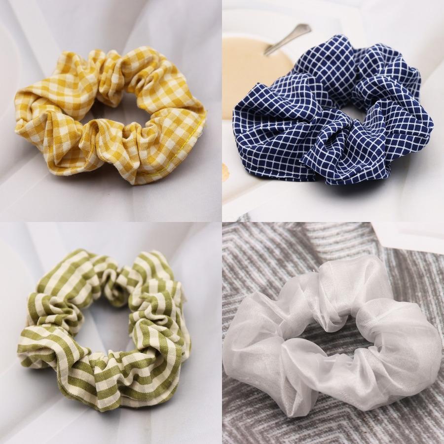 Coloré imprimé cœur cheveux Chouchous femmes Accessoires Bandeaux Ties Porte-caoutchouc Corde Ponytail Décoration C1233 # 378