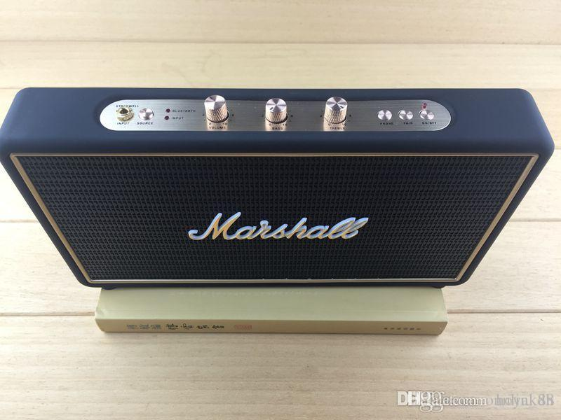 high quality Marshall stock well Bluetooth wireless speakers Portable Audio Player with leather case outdoor Portable Speakers z1