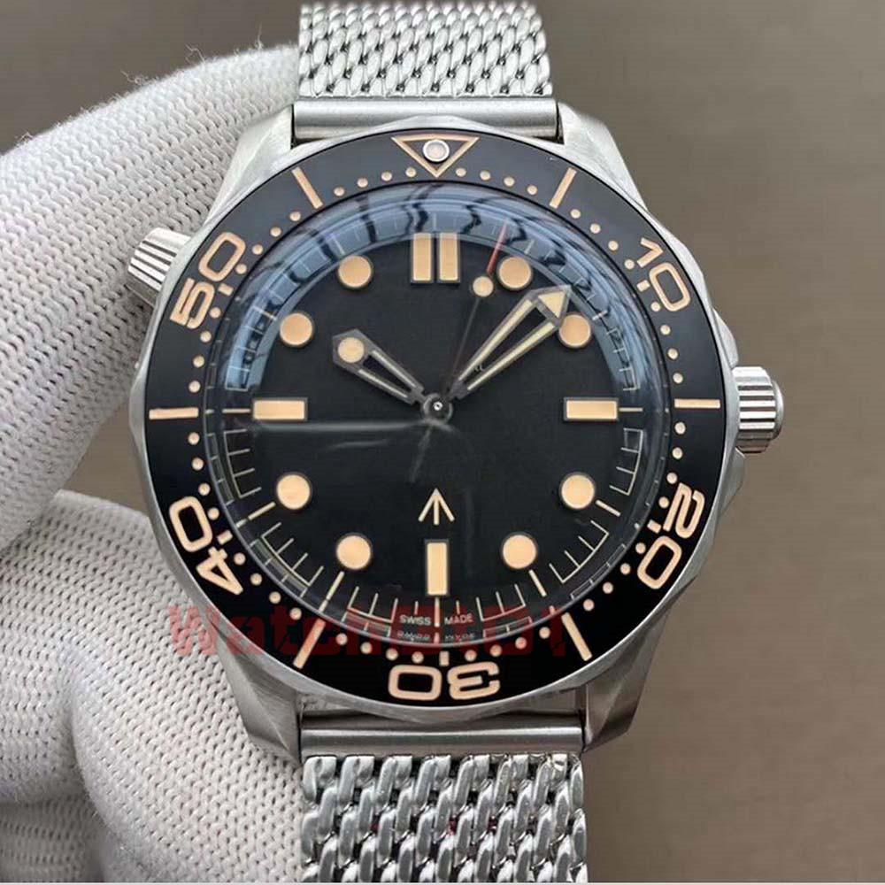 relojes más nuevo reloj de los hombres esfera de zafiro para hombre Relojes de cerámica Bisel Movimiento automático mecánico de acero inoxidable correa de reloj de pulsera