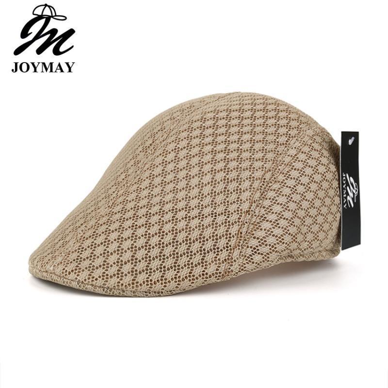 JOYMAY Yeni Bahar Yaz Unisex Mesh Bereliler Casual kasket Şerit Bereliler Şapka Casquette Cap Y024 Caps