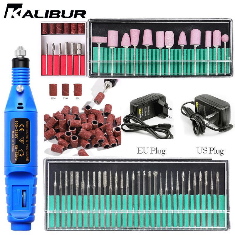 Nail Drill Kalibur professionale macchina elettrica Set Nail Art Gel Pen Rimuovere Pedicure file Manicuring lucidatura attrezzature
