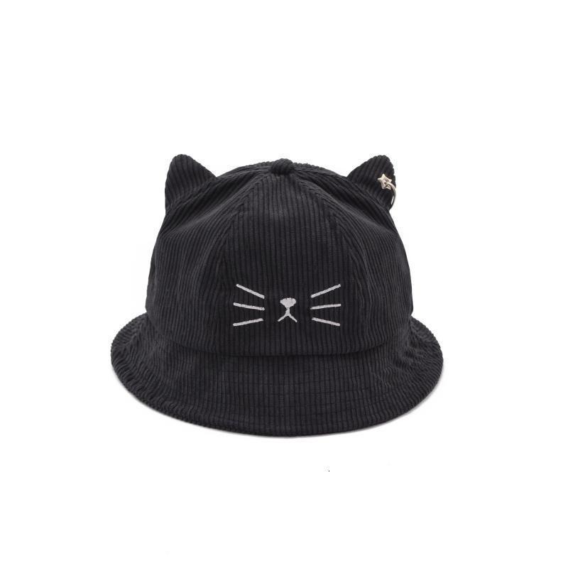 PEIKONG japanischer süße süßes Katze Ohren Hut Fischers weiblicher Herbst und Winter warmer Sonnenschirm Sonnenhut wilde Studenten Becken Kappe