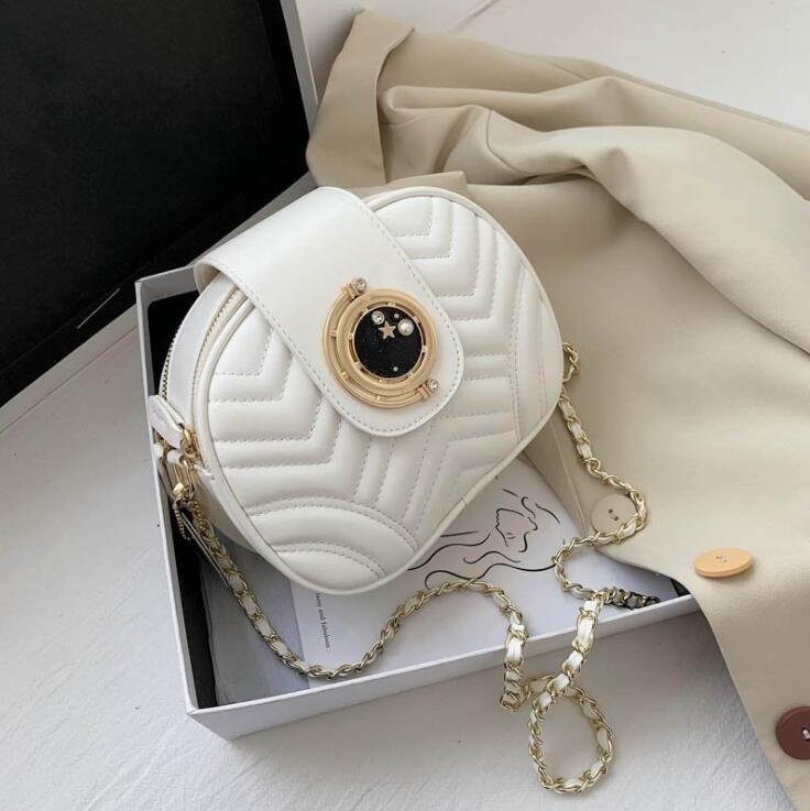 2020 Fashion Frauen Umhängetasche Hoch qualuty Zwei Zipper Schultertasche Gewinde Plain Laies Kameratasche