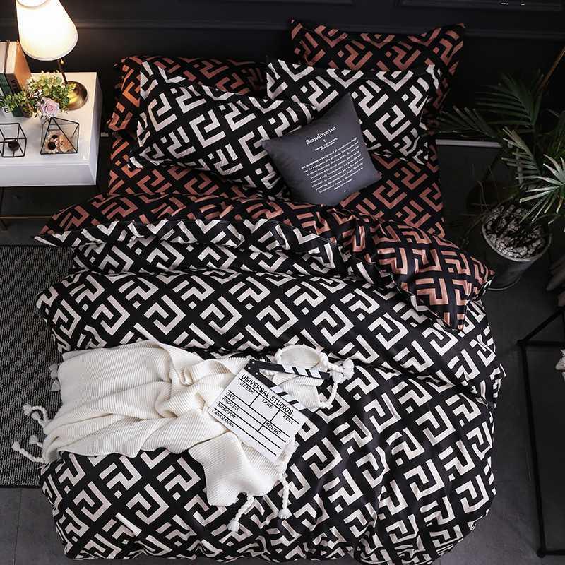 Klassische Bettwäsche-Set Bettwäsche Bettbezug setzt Leopard 3pcs Kingsize-Bettwäsche aus Baumwolle Bettwäsche Bettwäsche Königin nach Hause