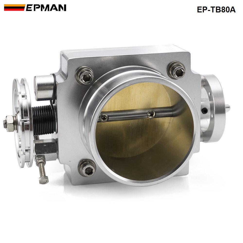 EPMSN - Cuerpo del acelerador de 80 mm para RB25 / 2JZ / EVO 1-6 / PETROL 4.8 / Crusier 4.5L Martillo de admisión ECT-78mm * 78mm EP-TB80A