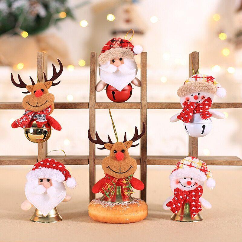 Frohe Weihnachten Schneemann-Anhänger Startseite Ornamente Weihnachtsbaum-hängende Anhänger Dekor Weihnachten Tropfen Ornament kleine Glocke