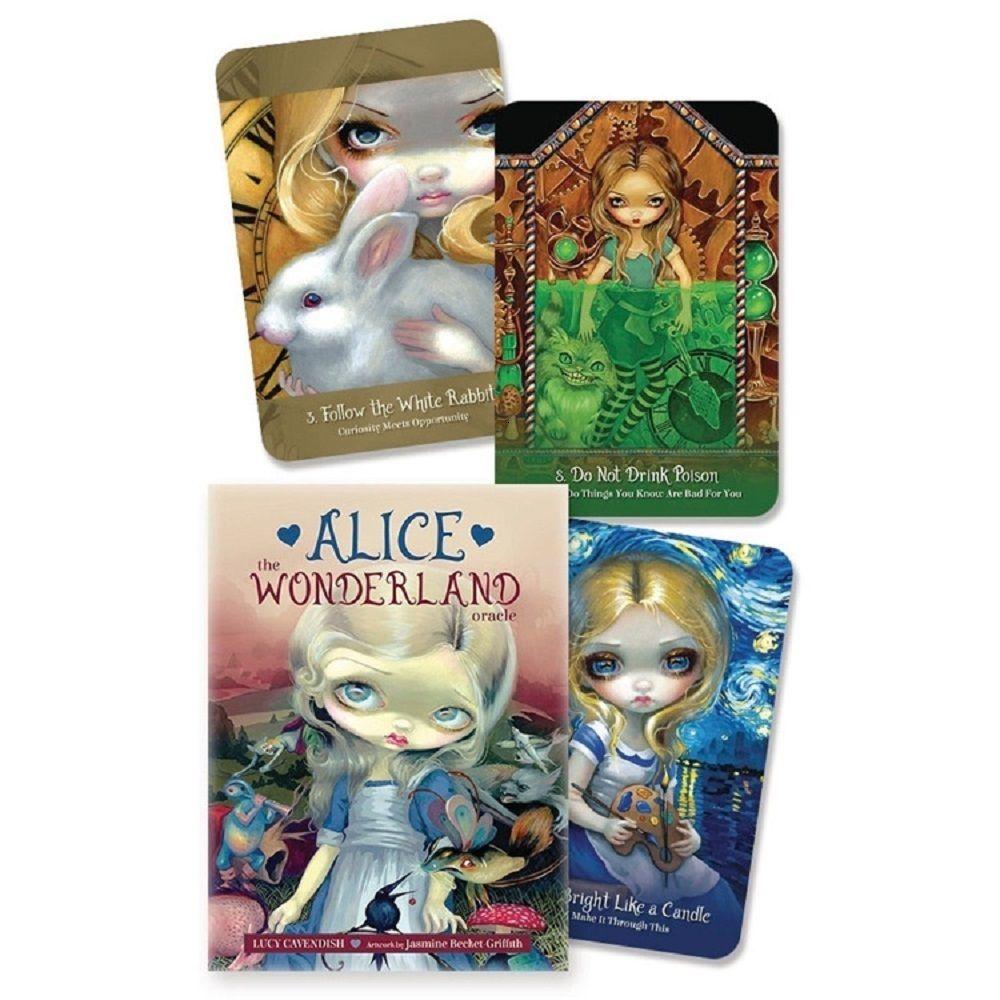 45pcs Алиса Wonderland Oracle Deck Таинственная Руководство гадание Судьба Карты Таро Совет Для семьи Детская игра