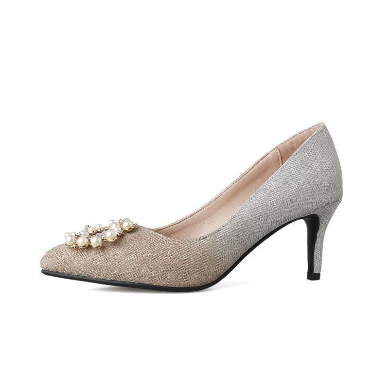 Vogue de novo fundo de 2.020 temporada idade elevada com bem com rasas sapatos único do sexo feminino 40-43