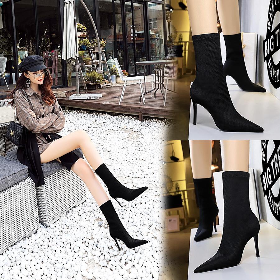 Kadınlar Boot Sahte Süet Üzeri Cizme Lace Up Seksi Yüksek Topuklar Ayakkabı Kadın Kadın İnce Uyluk Botaş 35-40 Dizden sonra Cizme