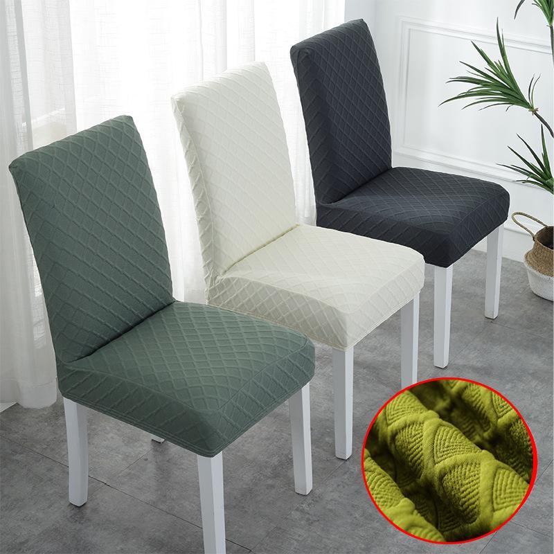Polaire Chair Fabric Couverture Housses de chaise siège Slipcovers extensible amovible Salle housses de siège pour hôtel de partie à domicile