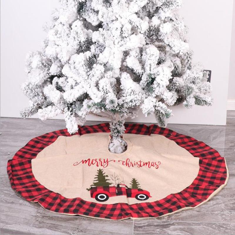 Christmas Tree Skirt 105cm Tree Skirt Fur Carpet Merry Christmas Tree Decoration New Year Xmas Decor Hotel Shopping Mall Supplies BT432