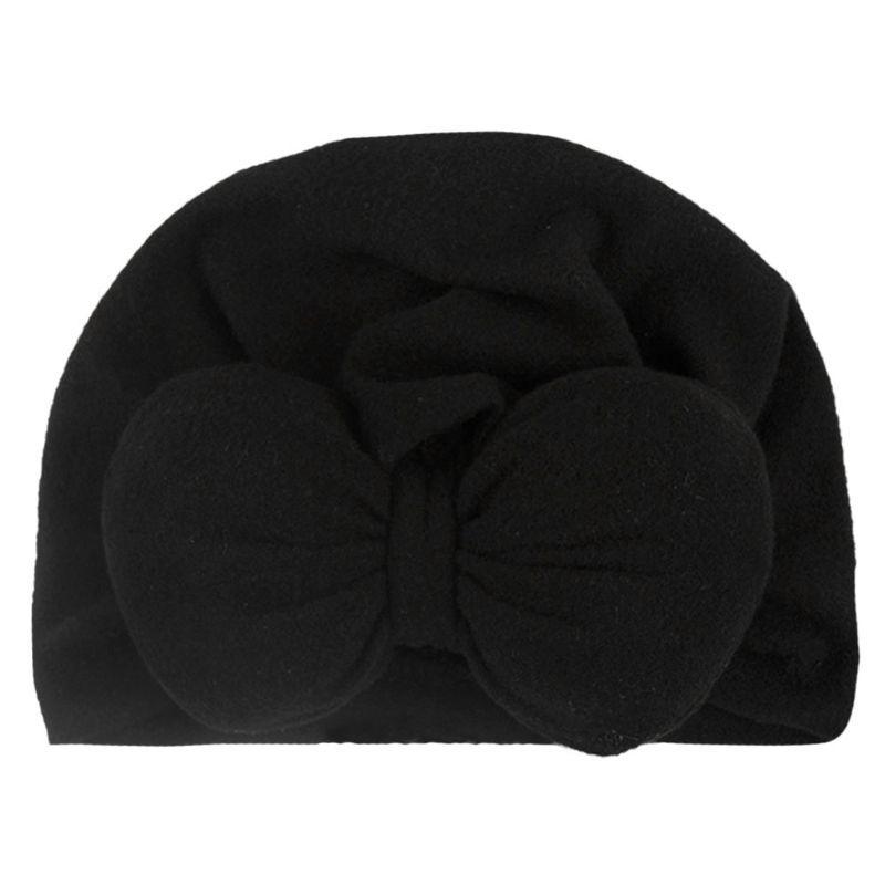 Baby-Kind-Hut Boho Turban-Kopf-Verpackungs-Beanie Mütze Neugeborene Strick geknotete Kappen E65D
