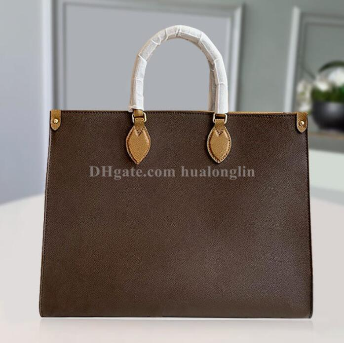 Tote Качество мода плеча женская сумка сумка сумка с высокой сумкой дата код серийный номер цветок gpktr