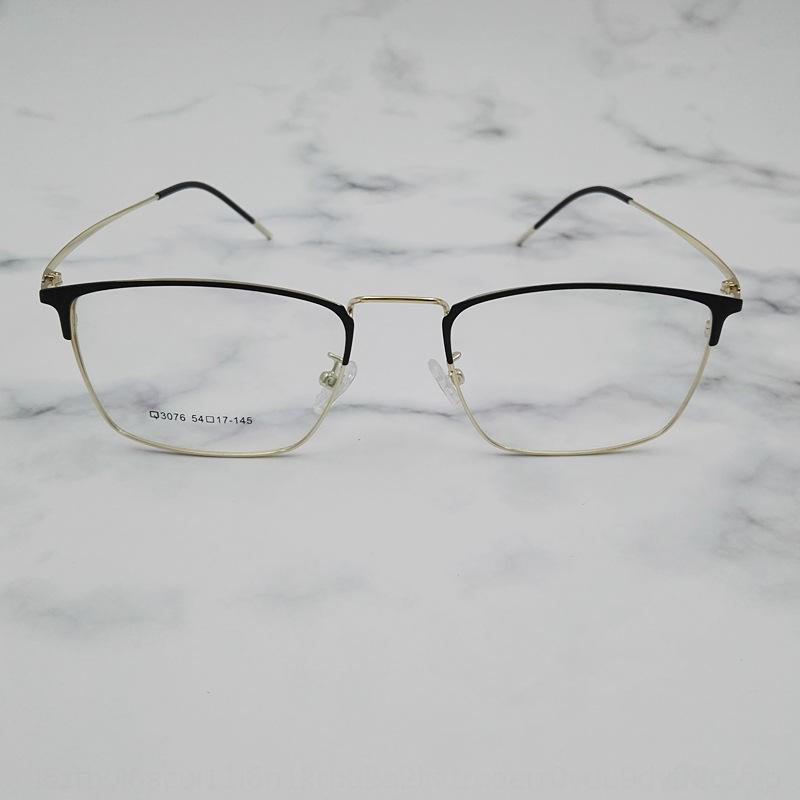 9nSJU Danyang homens da moda e do metal das mulheres Miopia metade sobrancelha miopia óculos de armação ultra light quadro óculos literária