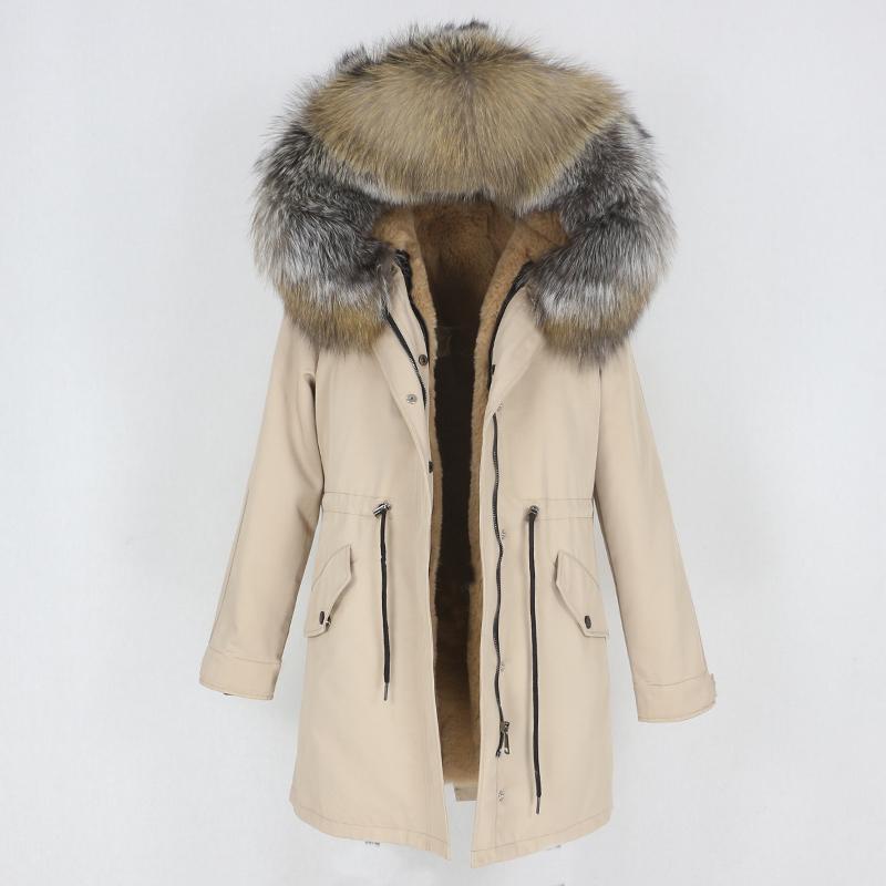 OFTBUY 2020 New Waterproof Long Parka Winter Jacket Women Coat Real Natural Fox Raccoon Fur Hood Outerwear Detachable Streetwear T200908