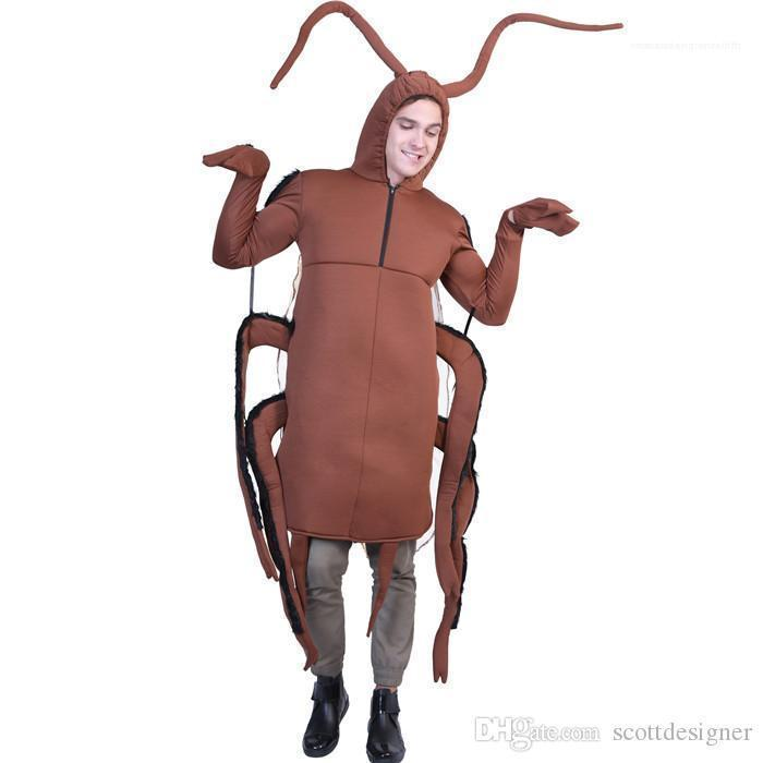 Festival Unisex Fashion Cool Style Casual Apparel Cockroach Print Halloween Cospaly Funny Designer Mascot Costumes Fastfood