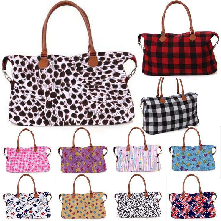 33 stil Buffalo Kontrol çanta Kırmızı Siyah Beyaz Ekose Çanta Büyük Kapasiteli seyahat Bez ile PU Kol depolama Annelik çantası Toptan EWA866
