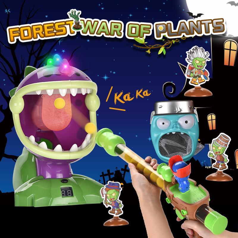Plants vs Zombies Kid jouets modèle cible signe debout jouet pistolet jouets Slingshot 2020 cadeau de vente chaude de l'enfant