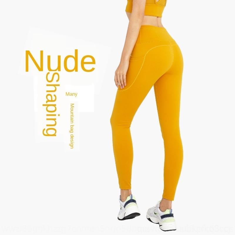 Z3WLl New pêssego yoga ajuste bolso hip hip-levantando nu calças de yoga calças aptidão das mulheres magras