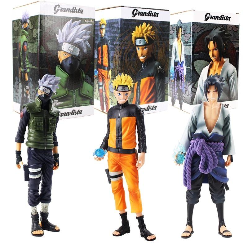 Anime Naruto Figuren Uzumaki Naruto Sasuke Uchiha Hatake Kakashi Grandista Sammler Modell Spielzeug Y200919