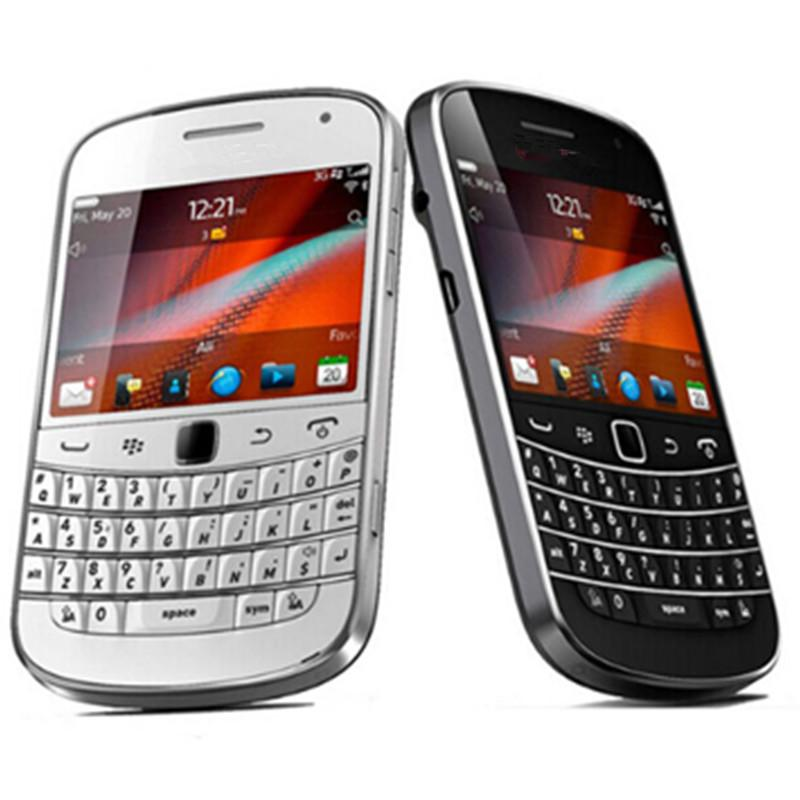 Desbloqueado Original BlackBerry 9900 Negrito Toque Recuperado Mobile Phone 8GB 3G 5MP Smartphone