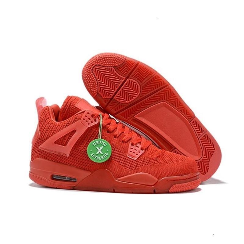 Düşük 2019 Mavi Kırmızı Yeni portakal 4 örgü Yeşil erkek basketbol ayakkabıları spor ayakkabı açık eğitmenler kaliteli boyutunu 7-12 4s
