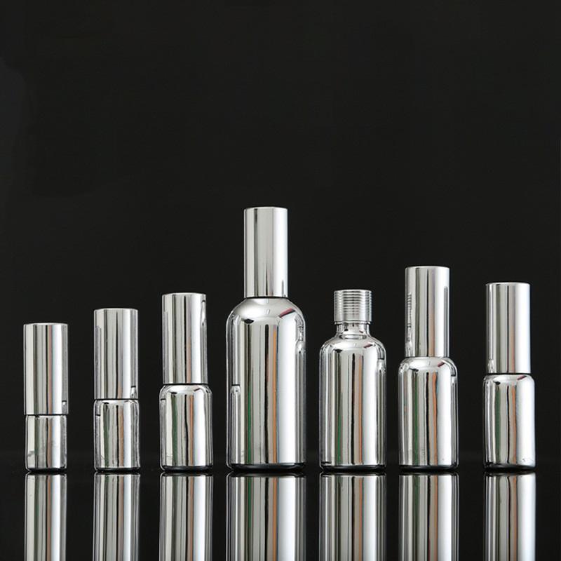 10ml 15ml 20ml 30ml 50ml 100ml Huile essentielle Verre Bouteille Dropper Or Argent Emulsion pompe Container brouillard de pulvérisation Bottle15 pcs