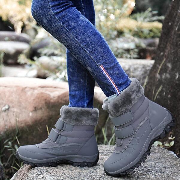 Большого размер женской обуви осени и зима женской высоких верхней плюшевого хлопка обувь утолщенных снега сапоги старой матери обувь