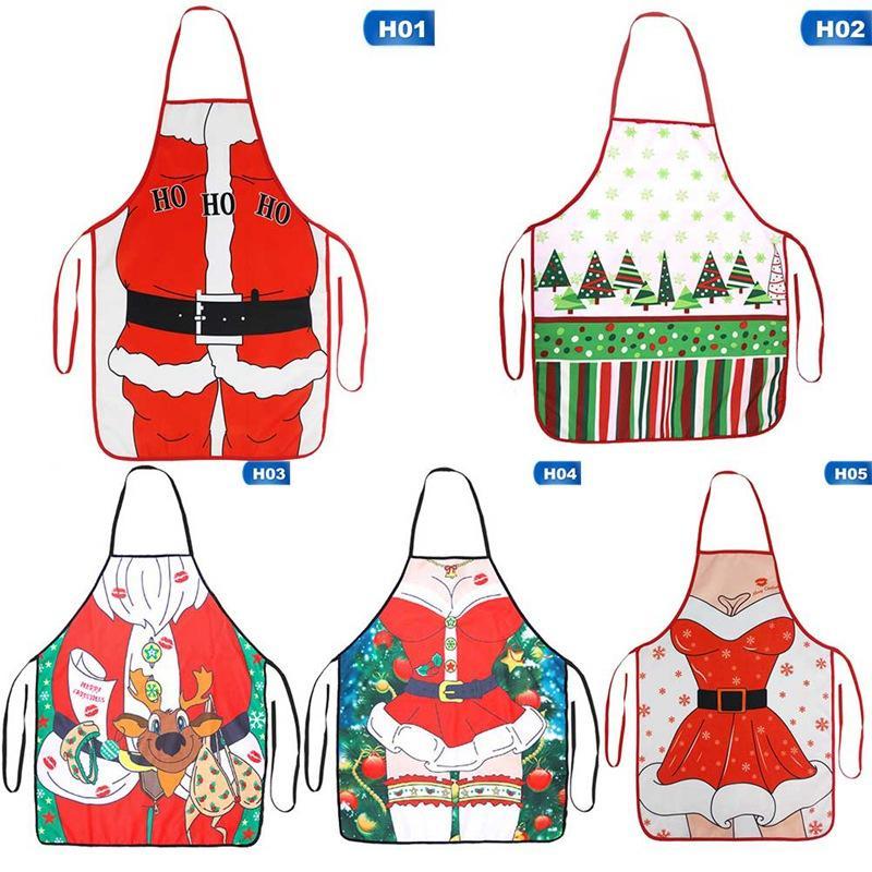 مآزر عيد الميلاد المطبخ للمرأة عيد الميلاد الديكور الكبار النساء الرجال عشاء حزب الطبخ المريلة الاكسسوارات الخبز