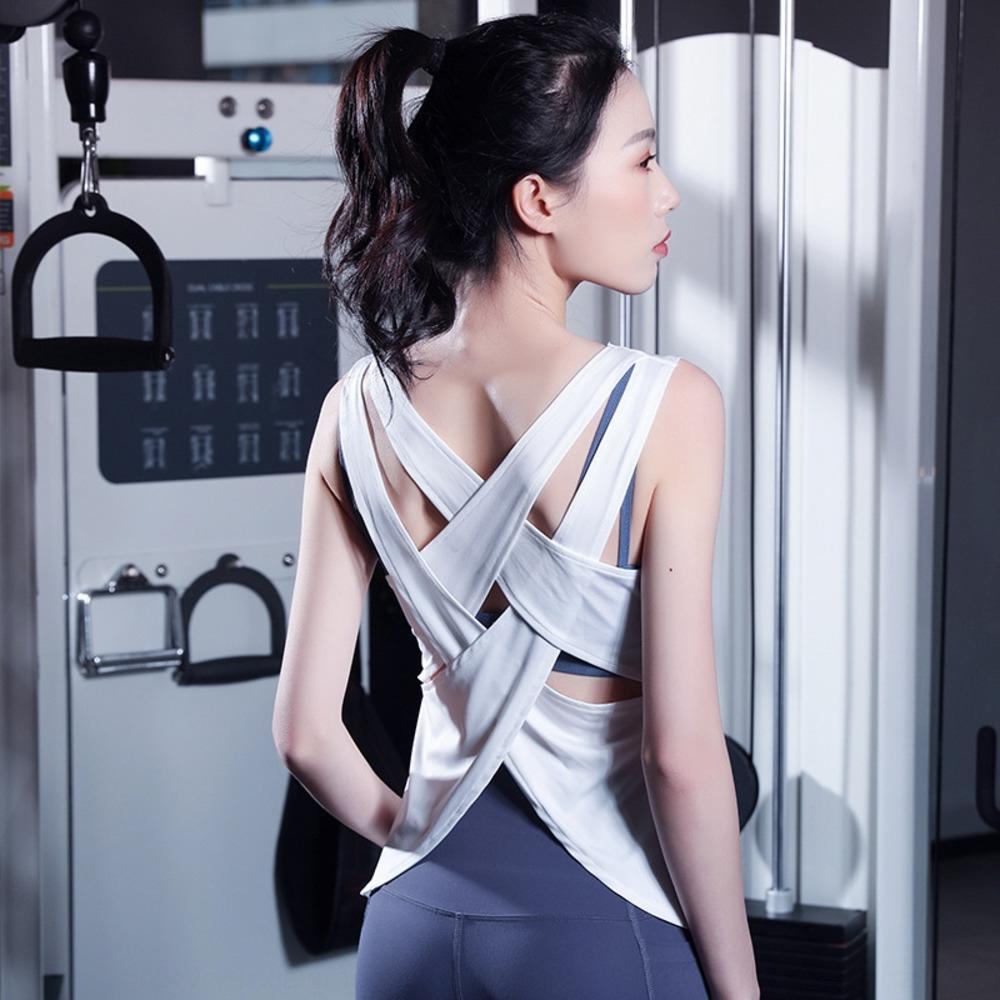 2020 nuevos deportes de secado rápido de ejecutar la capacitación aptitud de las mujeres chaleco de la tapa del chaleco de la parte posterior atractiva belleza zpFNt top sin mangas