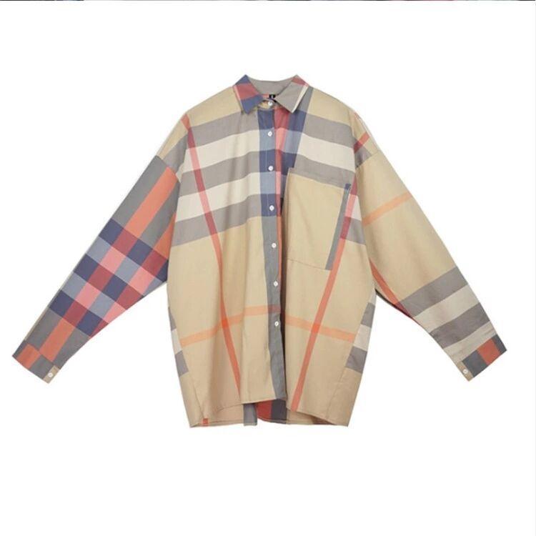 Лето Классического вскользь корейской версии женщины Блуза Пользовательского Шелк Ткань пальтовый Soft Fullbody строчная Logo Печать Coat Блуза Азиатского размера