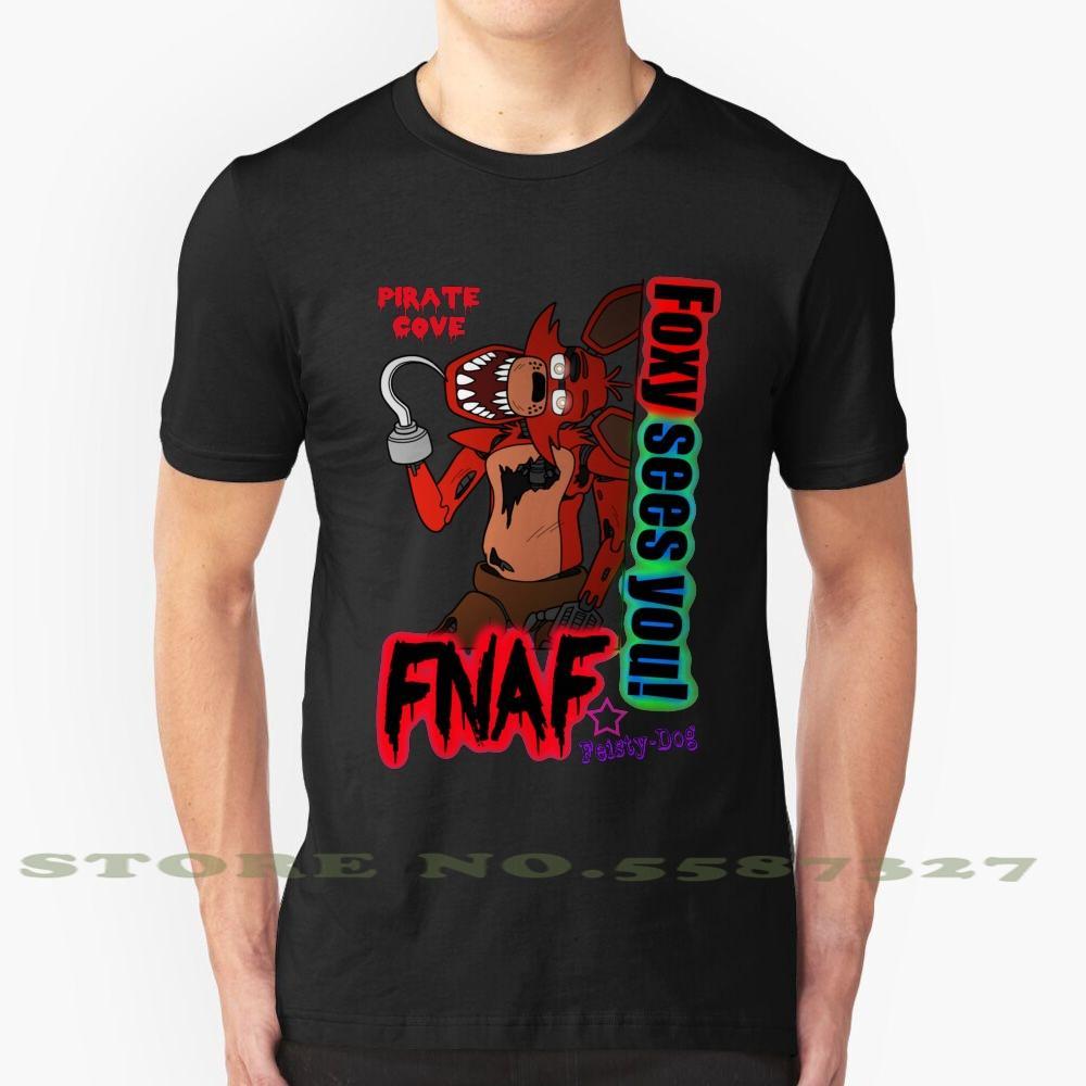 Foxy Vê-o! Verão engraçado T Shirt For Men Mulheres cinco noites no Freddys cinco noites Freddys Fnaf 5Naf 5 noites no Freddys 5
