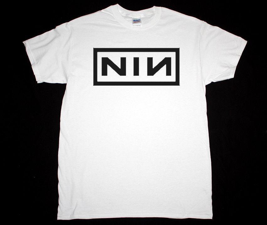 Nine Inch Nails LOGO NIN РЕЗНОР КАК УНИЧТОЖИТЬ АНГЕЛЫ S-XXL NEW WHITE T-Shirt Печатные футболку +2017 моды Марка Top Tee
