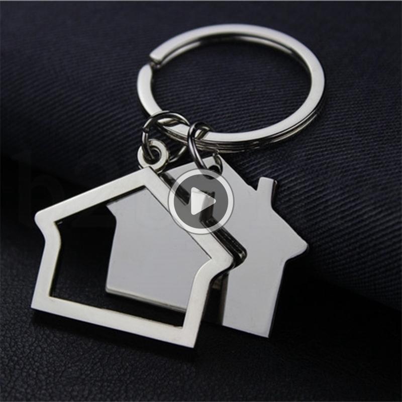 Criativo Casa em forma de chaveiro de metal Chaveiros casa Den carro chaveiro Key Pendant chave Titular KKA7540