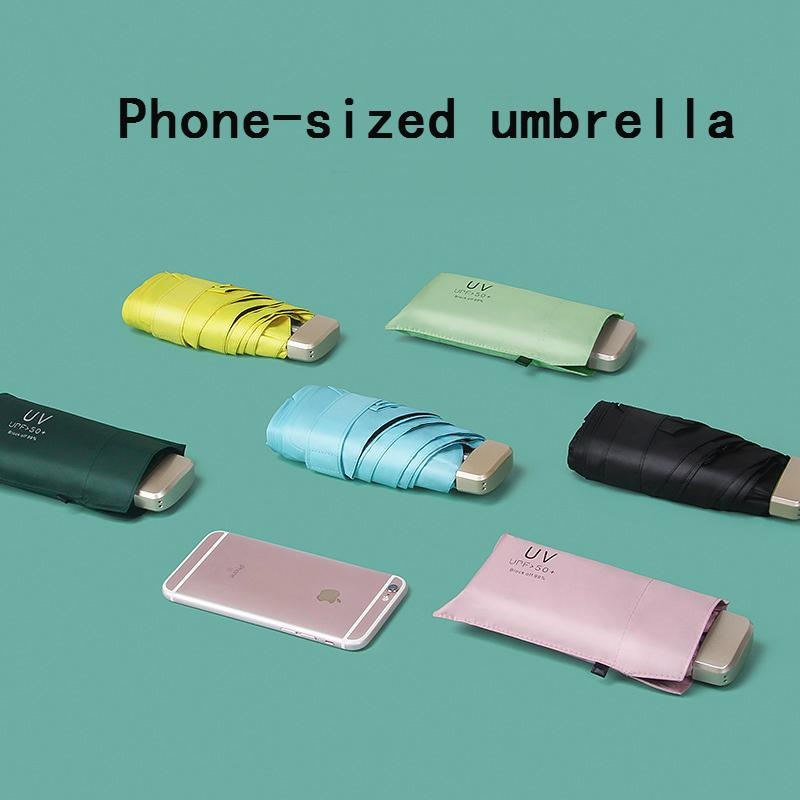 2020 new Sun Umbrella Very Small Umbrella Vinyl Umbrella Pocket Sun Protection And Ultraviolet Protection Parasol
