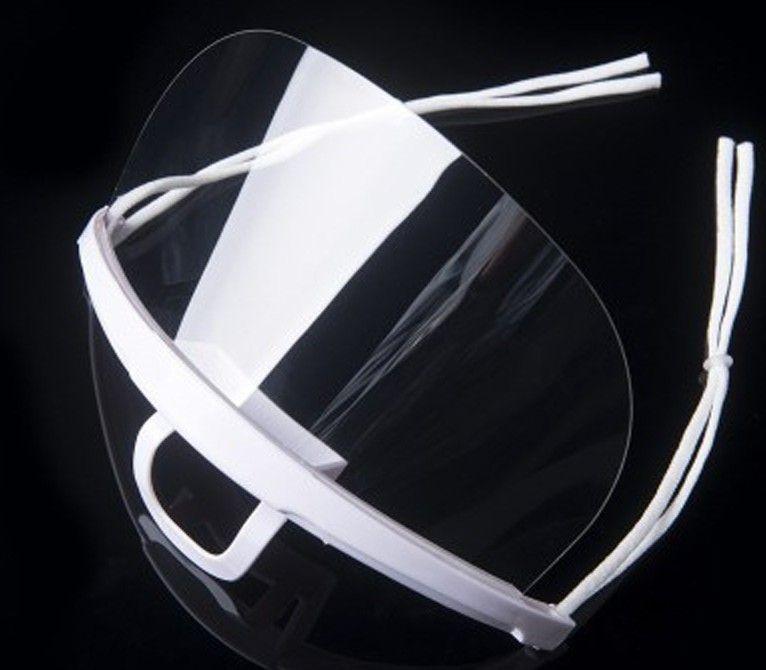 Lente descartável plástico transparente Máscaras Sorriso Anti-fog Gotas Restaurante Hotel Restaurantes Catering Máscara Atacado 20 Pcs