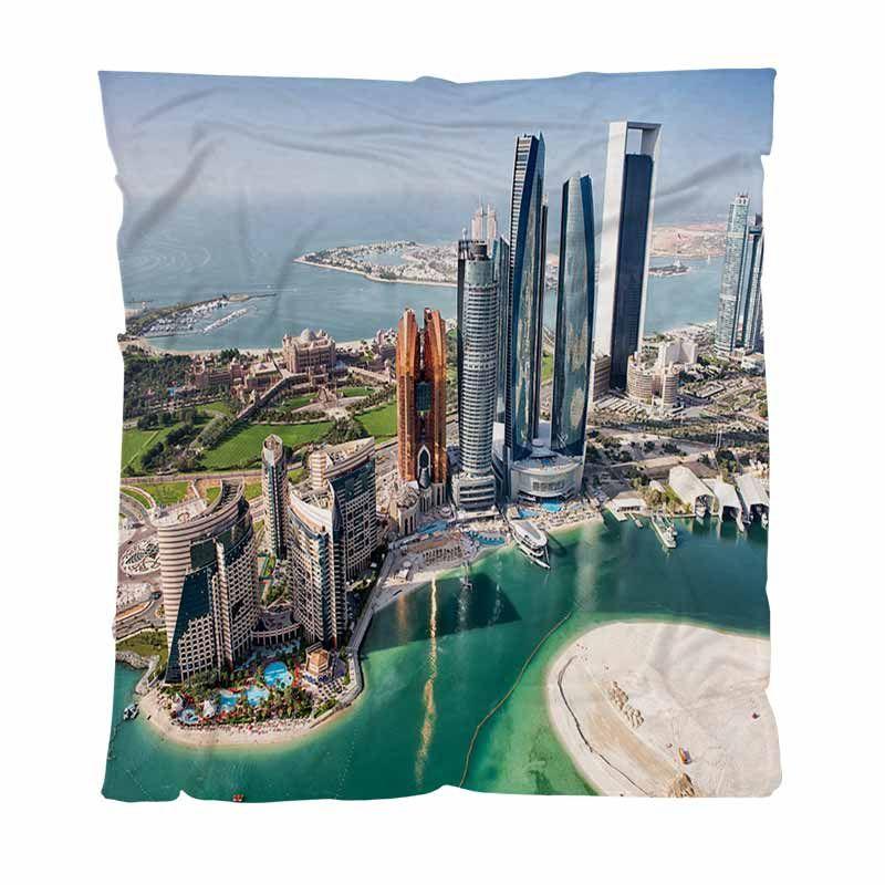 Miglior Coperta Quailty tiro coperta, famosi edifici ad Abu Dhabi, Bambino, Adulto, coperta d'aria condizionata Quilt