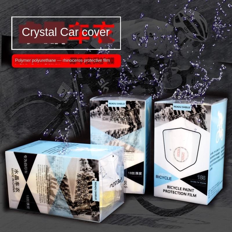EfHcO Crystal ropa de automóviles de montaña en bicicleta rinoceronte de cuero película protectora coche camino de la bicicleta del cuadro de carbono película protectora s resistentes a los arañazos