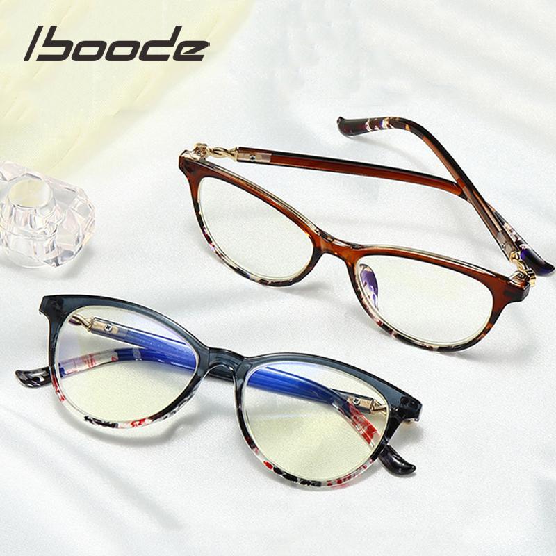 iboode Cat Eye Lesebrille Frauen Anti-Blau-Licht-Lese Presbyopie Brille Presbyopie Dioptrien +1,0 1,5 2,0 2,5 3,0 3,5 4,0