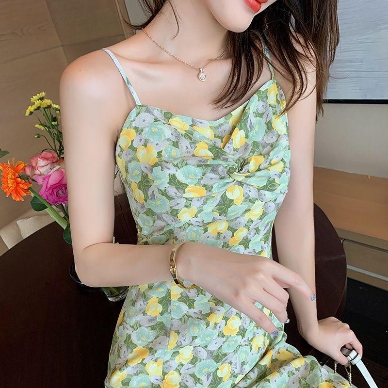Verano de las mujeres 2020 nueva npu1c floral de la liga de la falda del vestido de Platycodon grandiflorum vestido francesa primer amor falda de la liga de hadas Súper de hadas