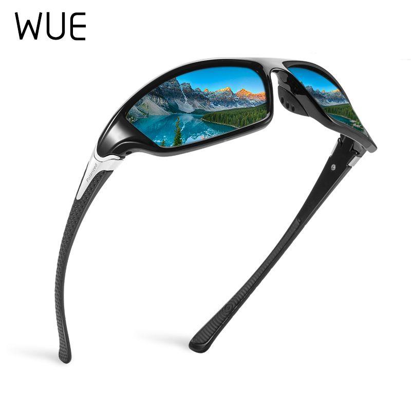 Hombre Masculino Conducción Gafas Gafas Gafas Hombres Conduciendo para Sol Gafas de sol con estilo WUE UV400 Shades 100% Sun Goggle Hombres polarizados Kepnj
