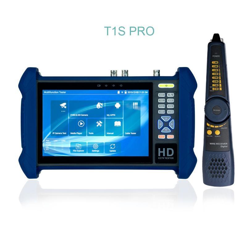 Box-Kameras T1S Pro CCTV-Kameras-Tester 7inch-Display-Touch-Monitor für AHD TVI CVI 8MP SDI 1080P-Test, Dahua-Tool Poe