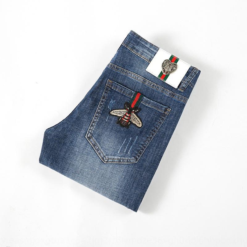 Light Blue Bee растянуть тонкий подходят ноги весна лето и мужские джинсы Light Blue Bee мужские джинсы стрейч Slim Fit ноги весной и летом 9EllX