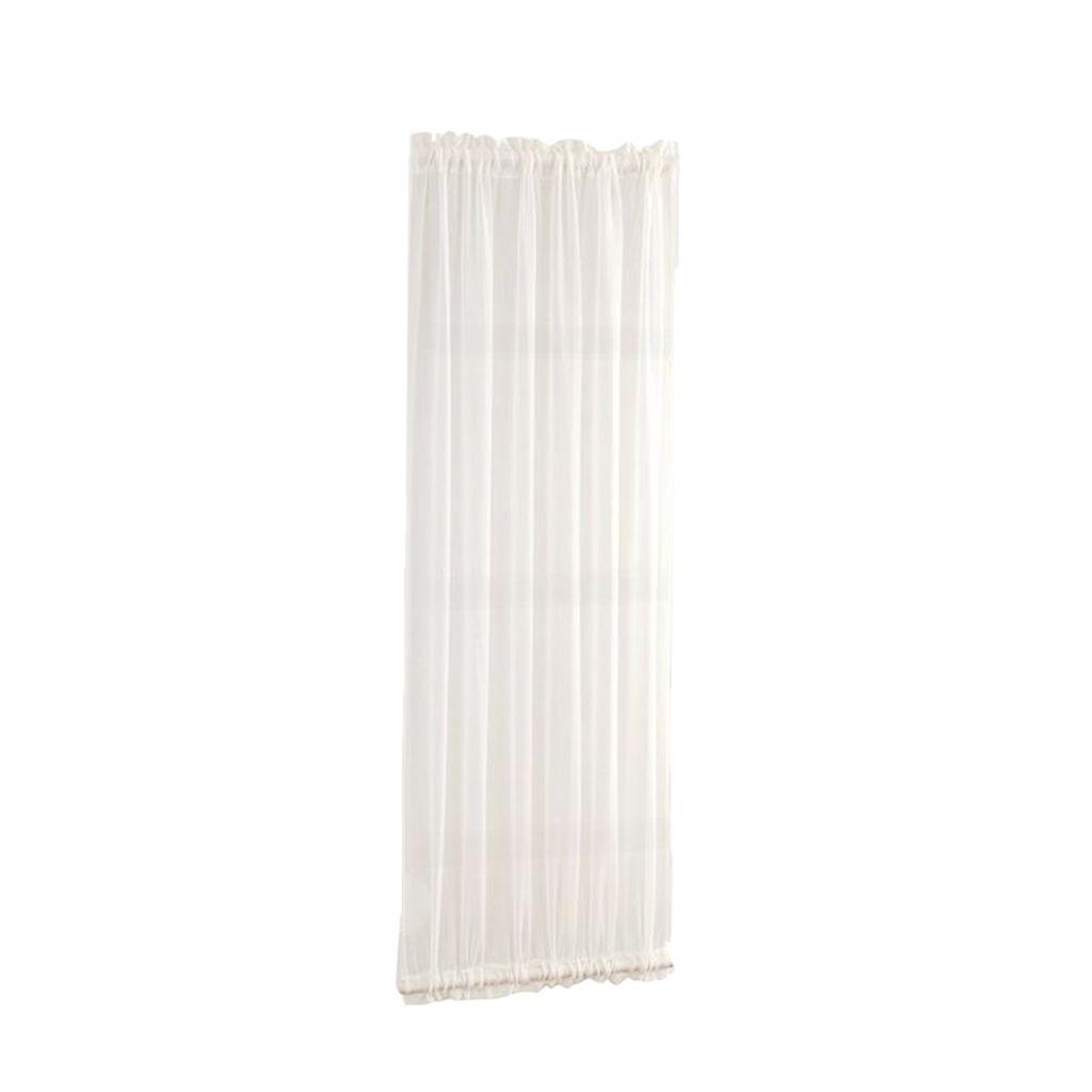 Porte a vetri tende scorrevoli Porte Curtain Drape con 1 Bracciali (1 Pannello Set, Bianco)