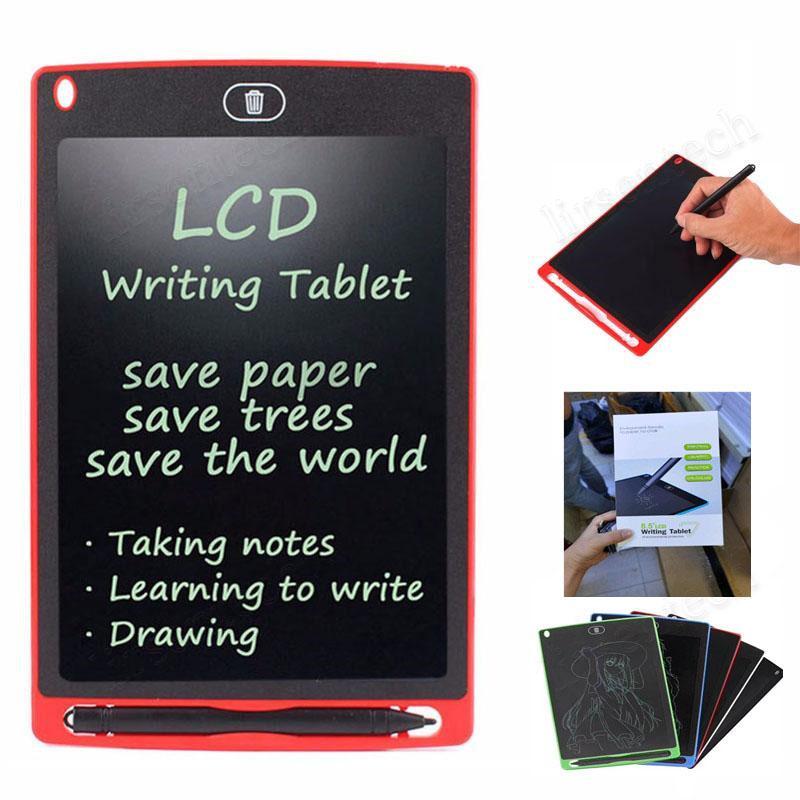 8.5 polegadas LCD Escrever Desenho Tablet Conselho Blackboard manuscrito Pads presente para adultos Crianças Paperless Notepad Tablets Memos Com Pena atualizado