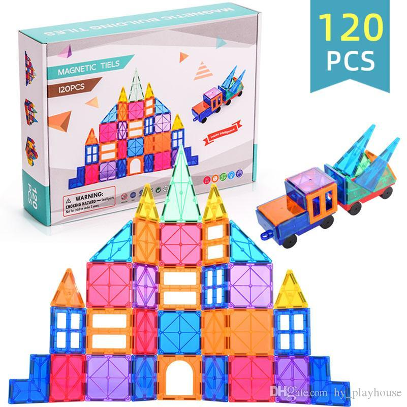 120pcs Mini Magnetic Designer Construction Set Model Building Toy Plastic Magnetic Blocks Educational Toys For Kid Children Gift