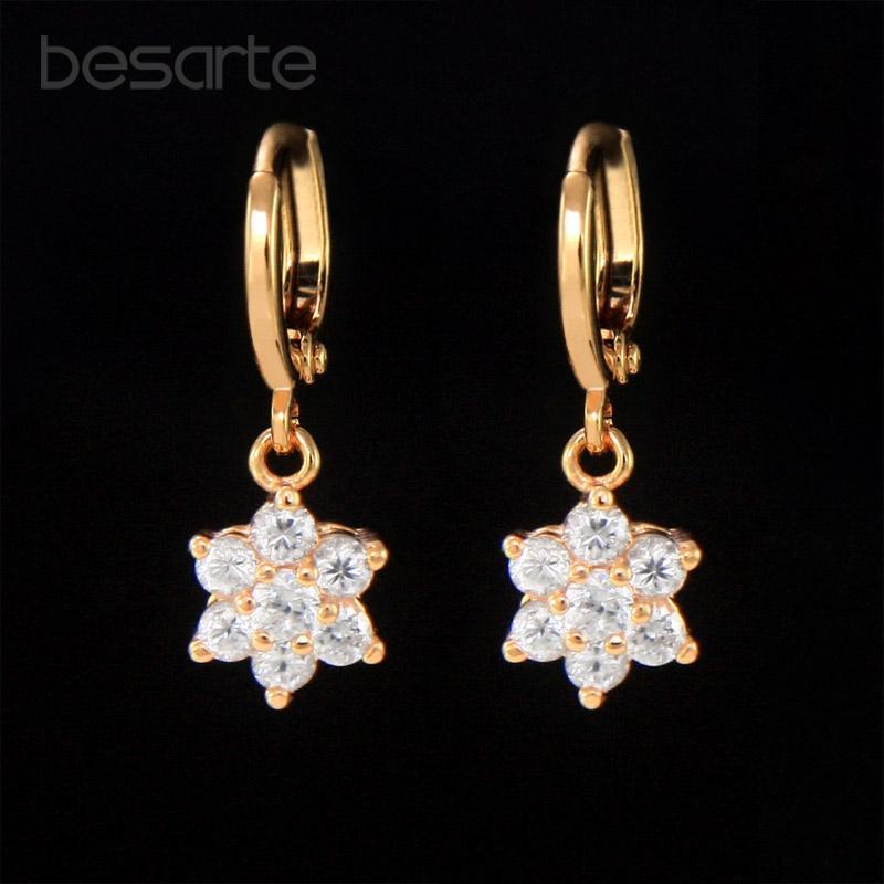 Dangle & Chandelier Cz Gold Earing Long Earrings Women Boucle D Oreille Femme Pendiente Mujer Orecchini Donna Lange Oorbellen Kolczyk Ohrrin