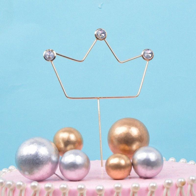 Compromiso de la boda 1pc corona dulce de la torta de cumpleaños de la magdalena Decoración Con Party Decor cumpleaños de los niños Material Girl regalos 7At2 #